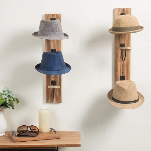 My Gift Wall Mounted Wooden Hat Rack Organizer