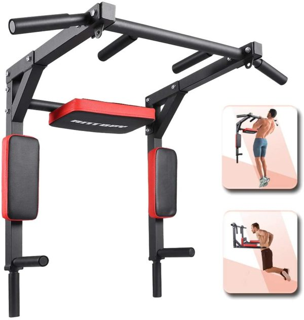 ANTOPY Pull Up Bar Wall Mounted Dip Bar Multifunctional Home Gym