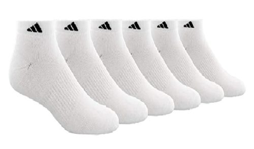 Adidas Athletic Socks for Men Cushion Low Cut White Sports Socks Ankle Socks