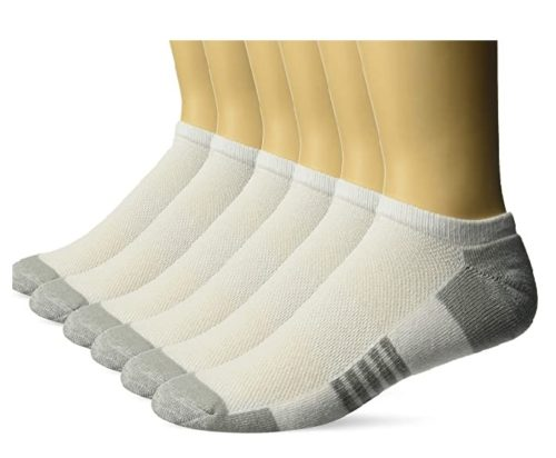 Athletic Socks Amazon for Men Cotton Cushioned White Sports Socks No Show Socks