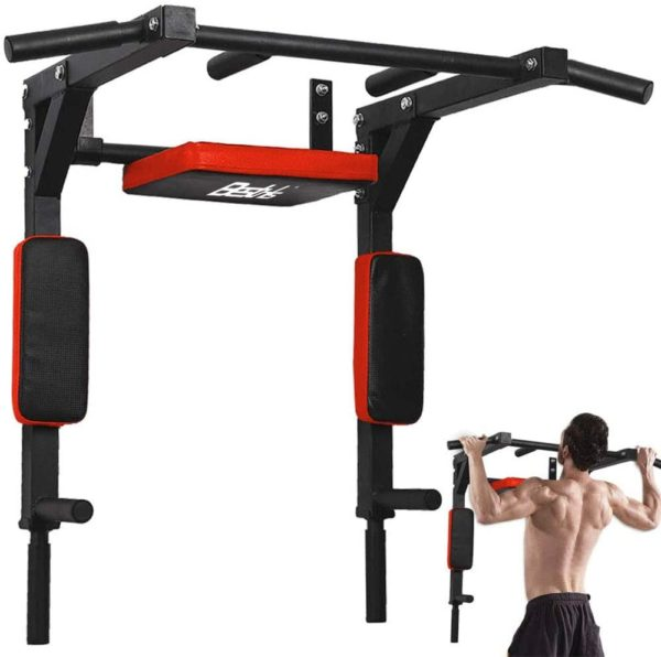 BESTHLS Wall Mounted Pull Up Bar Multifunctional Chin Up Bar