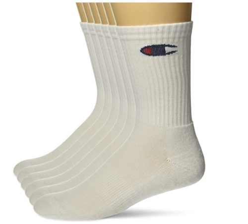 Champion White Athletic Socks Dry Moisture Wicking White Sports Socks