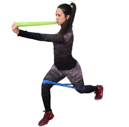 Fit Simplify Exercise Sports Bands with Instruction Guide and Carrying Bag Elastic Bands