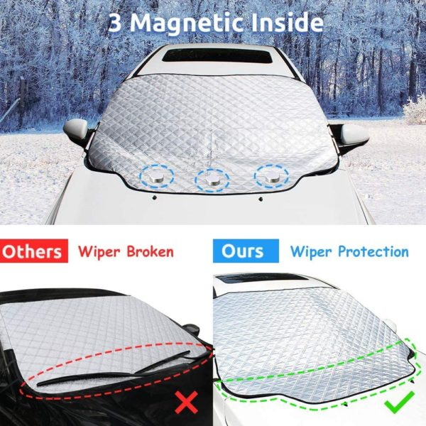 HEHUI Car Windshield Snow Cover,Car Windshield Snow Ice Cover