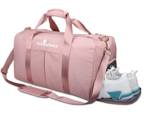 Keespence Duffle Gym Bag with Shoe Compartment Sports Bag for Women