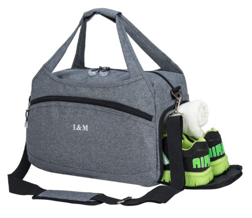 Kuston Sports Duffle Gym Bag with Shoe Compartment for Men and Women