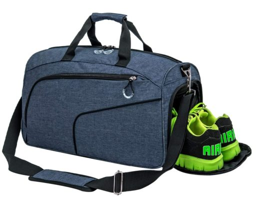 Kuston Weekender Gym Bag with Shoe Compartment for Men and Women