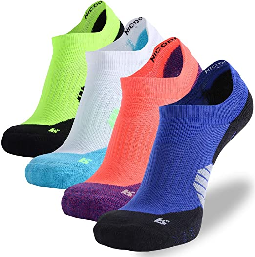NIcool Athletic Socks Breathable Ankle Socks Caushion No Show Sports Socks