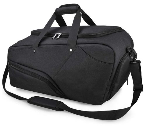 Nubily Duffle Gym Bag with Shoe Compartment, Weekender Gym Backpack for Men and Women