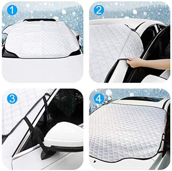 OASMU Windshield Snow Cover, Car Windshield Snow Ice Cover