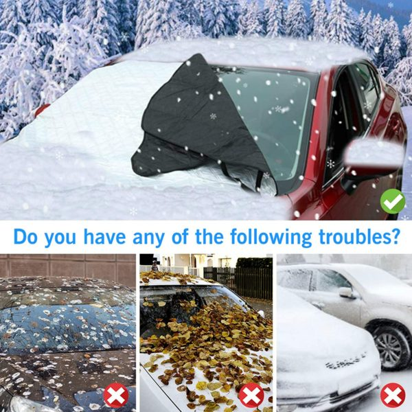 UBEGOOD Car Windshield Snow Cover, Car Windshield Cover for Snow