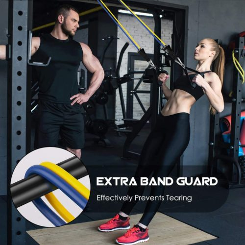 VEICK Resistance Bands with Door Anchor and Bag Exercise Sports Bands