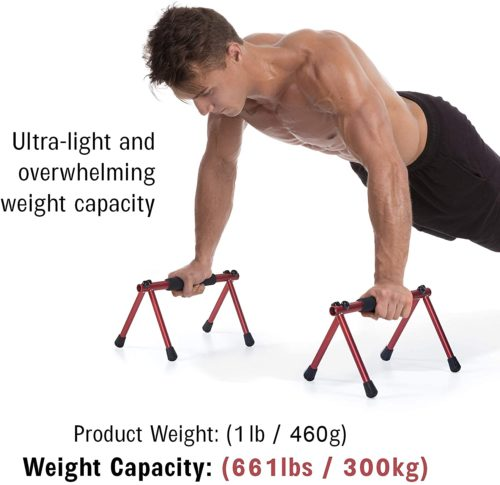 Withgear Folding Portable Metal Push Up Bar for Men and Women