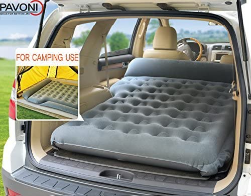 Pavoni Heavy Duty Inflatable SUV Car Air Mattress and Camping Bed, Back Seat Car Bed