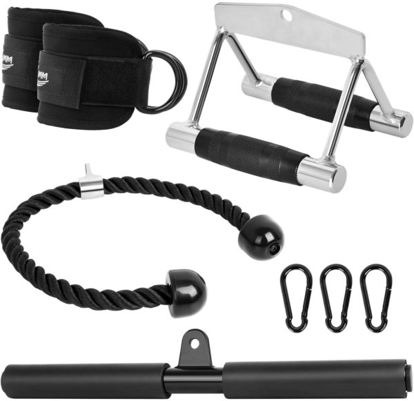 KMM V Bar Pulldowns with Other Gym Accessories