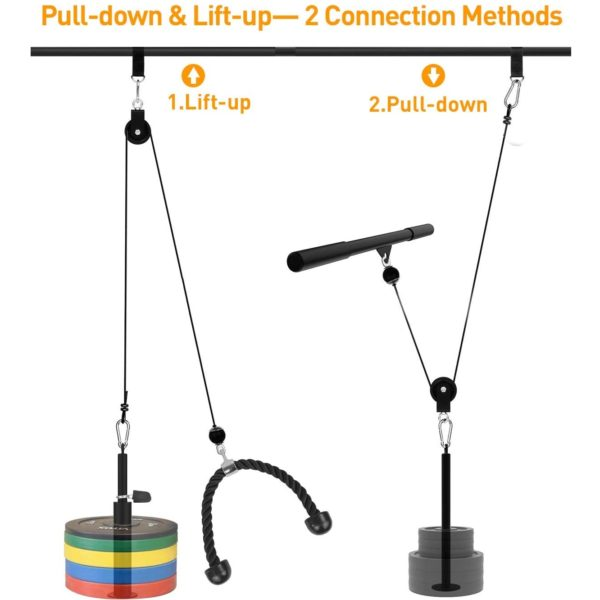 VIAJERO Gym Pulley System for Lift Up and Pull Down Workout